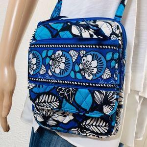 EUC Vera Bradley Blue Floral Crossbody Bag